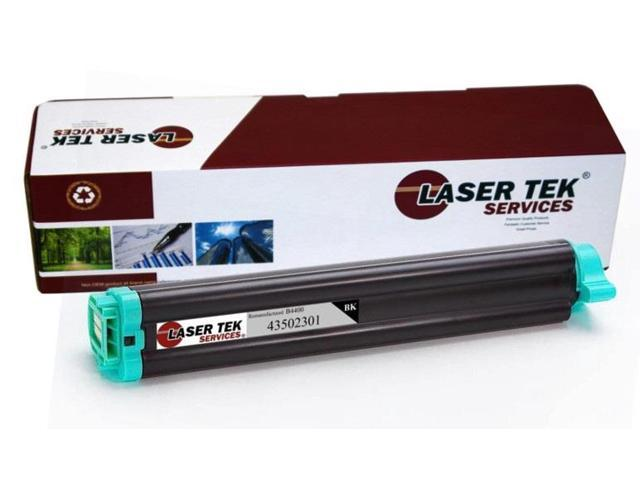 Laser Tek Services® Okidata 43502301 Type 9 Black Remanufactured Replacement Toner Cartridge for the B4400