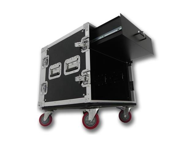 Seismic Audio - 10 Space Rack Flight Case with 3 Space Rack Drawer