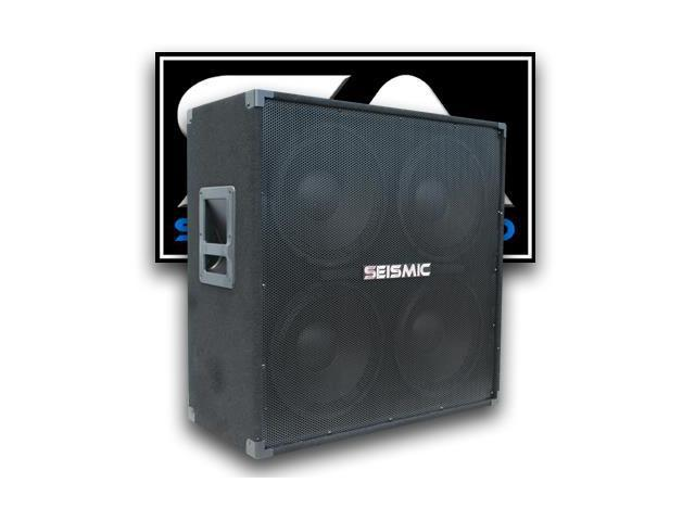 Seismic Audio - 4x12 Guitar Speaker Cabinet - 400 Watts RMS - 8 Ohm