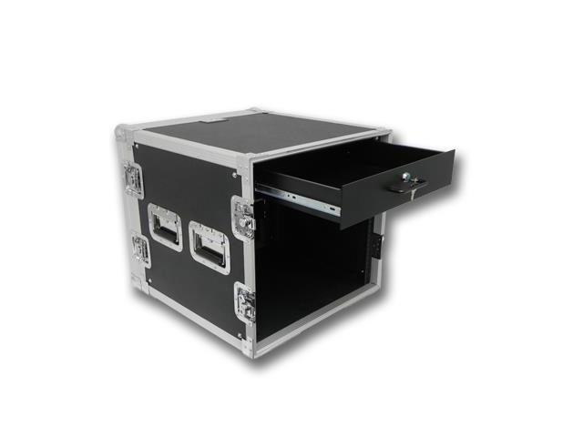 Seismic Audio - 10 Space Rack Flight Case with 2 Space Rack Drawer
