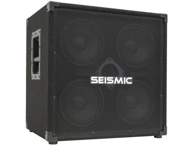 Seismic Audio - 4x8 Bass Guitar Speaker Cabinet - 300 Watts RMS - 8 Ohms