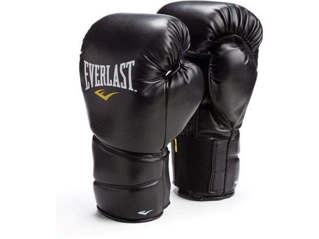 Everlast Black ProTex2 16oz Leather Training Gloves L/XL 3216BLXL