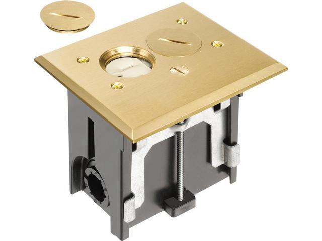 Arlington - FLBA101MB - Adjustable Floor Boxes with Metallic Covers - Brass