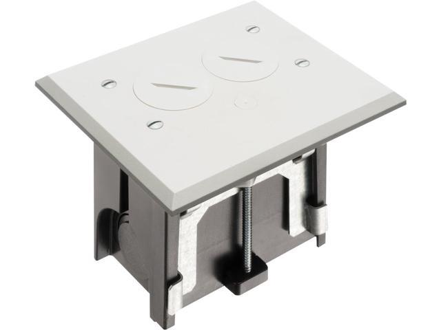 Arlington - FLBA101W - Adjustable Non-Metallic Floor Box for New Floors - White