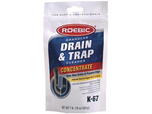 Drain and Trap Cleaner 16 Oz. ROEBIC LABORATORIES Drain Opener Chemicals K-67BAG