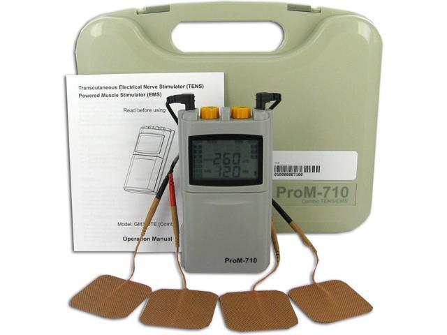 TENS and Muscle Stimulation Combo Unit, 7 Mode TENS, 3 Mode EMS - ProM-710