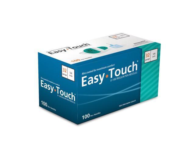 Easy Touch Pen Needles 32 Gauge 1/4 in - 100 ea