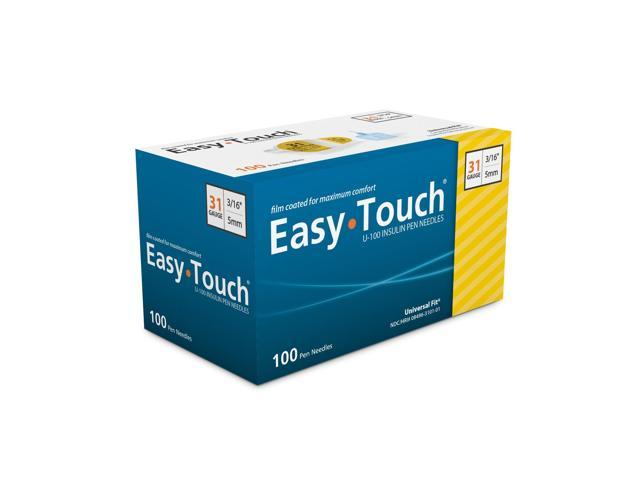 Easy Touch Pen Needles 31 Gauge 3/16 in - 100 ea