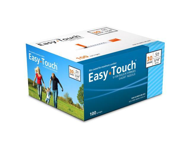 Easy Touch Insulin Syringes 30 Gauge .5cc 5/16 in - 100 ea