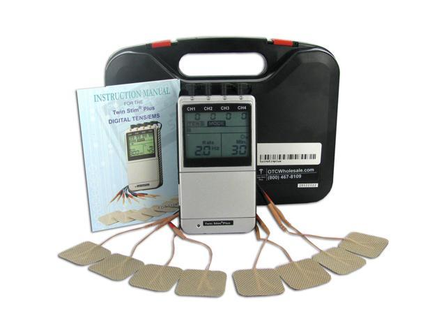 Twin Stim Plus Combo Quad Channel TENS Unit and EMS with AC Adapter 2nd