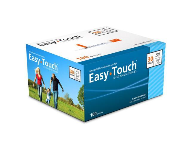 Easy Touch Insulin Syringes 30 Gauge .5cc 1/2 in - 100 ea