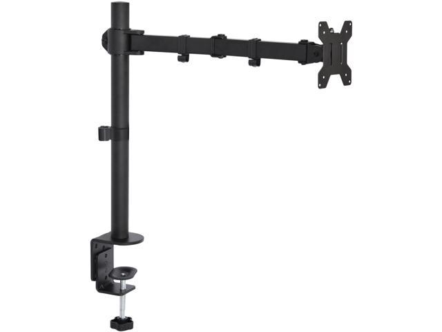 Single LCD Monitor Desk Mount Stand Fully Adjustable/Tilt for 1 Screen up to 27