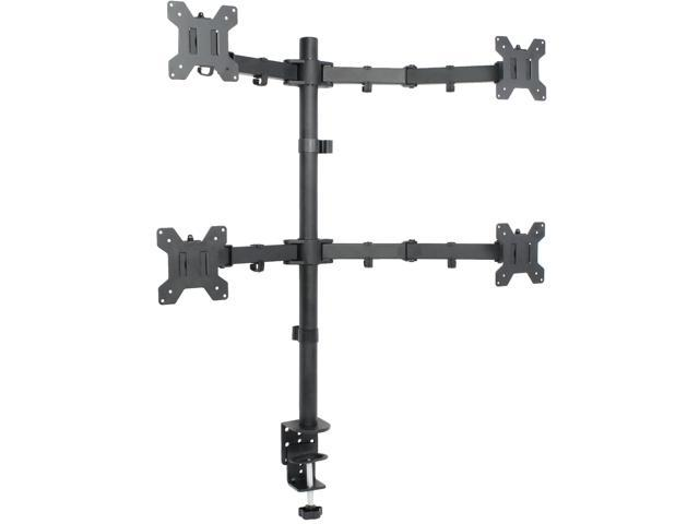 Quad LCD Monitor Desk Mount Stand Heavy Duty Fully Adjustable fits 4 /Four Screens up to 27