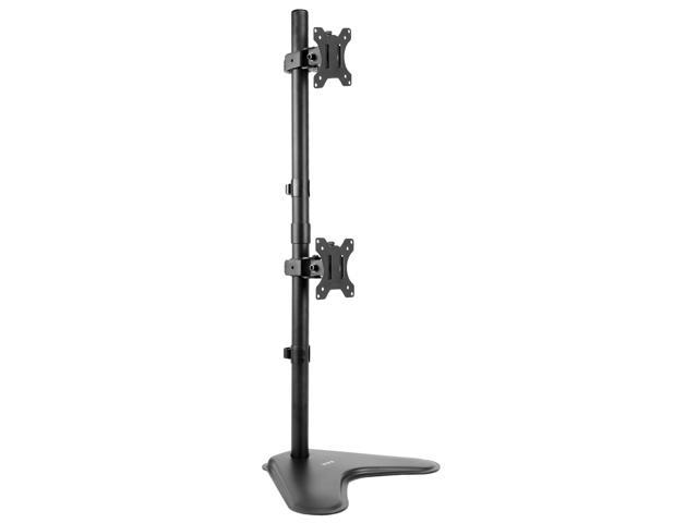 Dual Lcd Monitor Desk Stand Mount Free Standing Holds