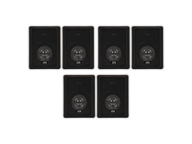 Acoustic Audio 151B Indoor Outdoor 2 Way Speakers 1800 Watt Black 3 Pair Pack 151B-3Pr