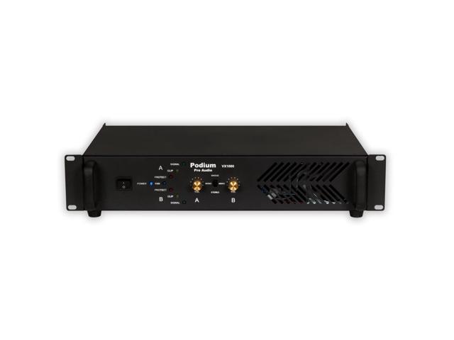 Podium Pro VX1000 Power Amplifier 2 Channel 1000 Watt PA DJ Karaoke Band Amp
