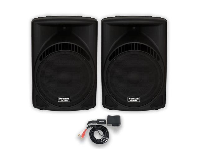 Podium Pro 1 Pair of 1800 Watts Band DJ PA Karaoke Powered 15