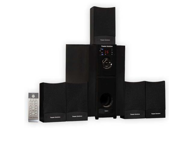 Theater Solutions TS511 Multimedia 5.1 Powered Home Theater Surround Sound Speaker System