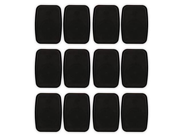 Theater Solutions TS4ODB Indoor or Outdoor Speakers Weatherproof Mountable Black 6 Pair Pack