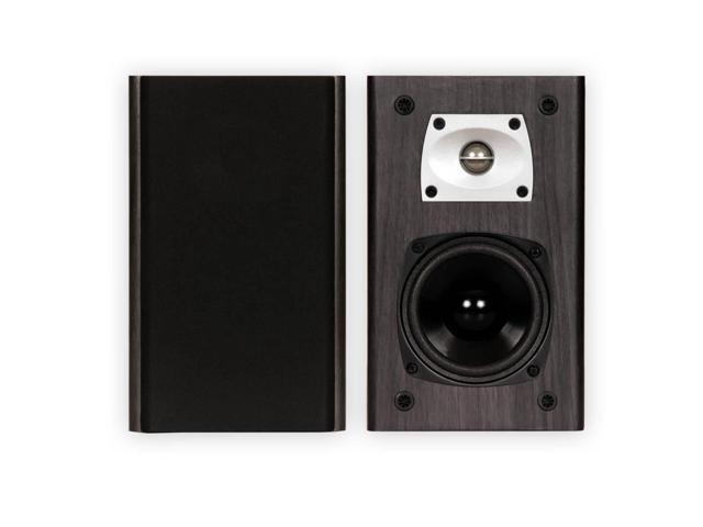 Theater Solutions B1 Black Bookshelf Speakers Surround Sound Home Theater Speaker Pair