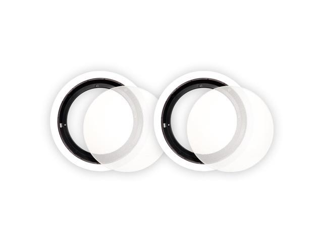 Theater Solutions 8CFG Frames and Grills for 8 Inch In Ceiling Speakers Pair