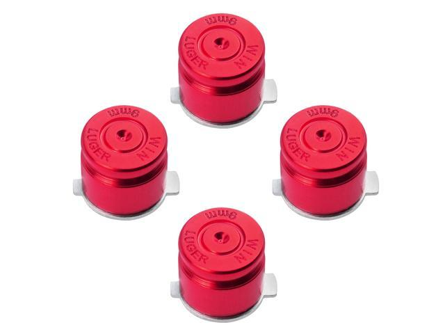 Metal Buttons Set Mod Kits for PS 3 Dualshock 3 4 Controller Bullet Style Red