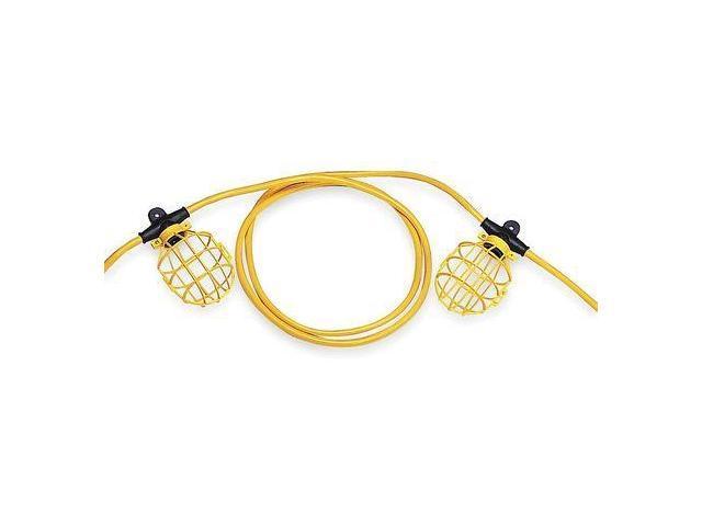 Lumapro Construction String Lights : Lumapro Incandescent Yellow/Black Temporary String Light, 6YF74 - Newegg.com