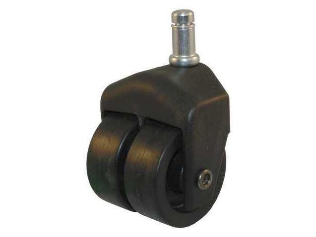 Dual Wheel Swivel Caster,150 lb,2 In Dia,PP, 205-2XPP-40