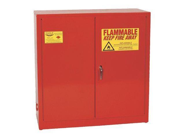Flammable Liquid Safety Cabinet, Red ,Eagle, 1932 RED - Newegg.com