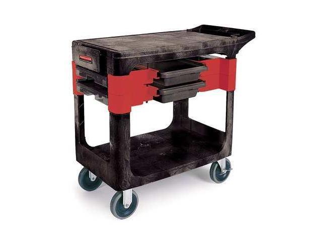 Rubbermaid Fg618000bla Trade Cart Service Bench 38 In L Black