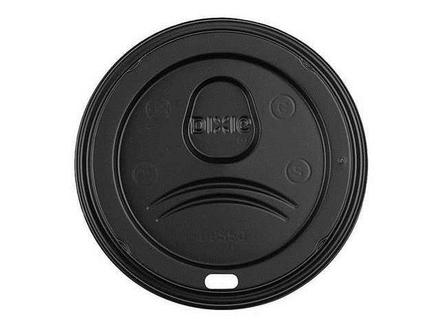 Hot Paper Cup Dome Lid, Black ,Dixie, D9550B