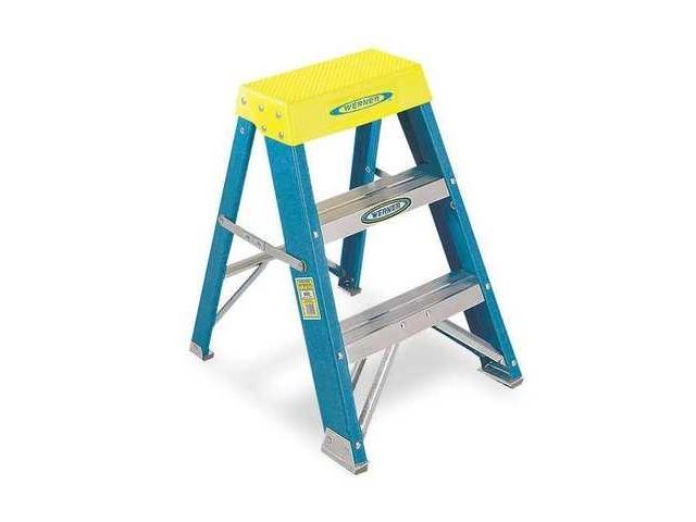 Blue/Silver/Yellow Step Stool, 6002, Werner