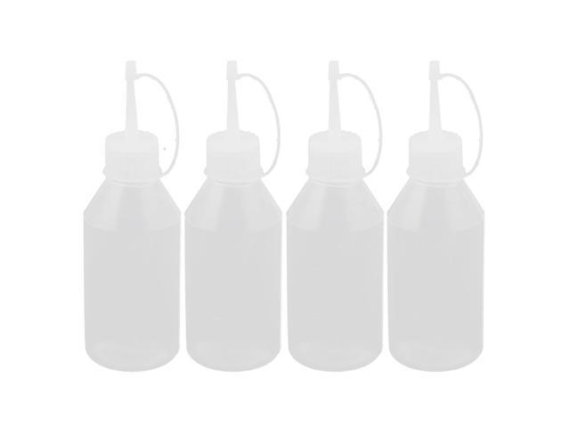 Unique Bargains Kitchen Sauce Vinegar Ketchup Oil Squeeze Bottle Dispenser 100ml 4 Pcs