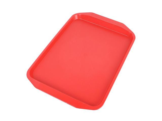 Plastic Rectangle Designed Dinner Food Court Serving Tray Red