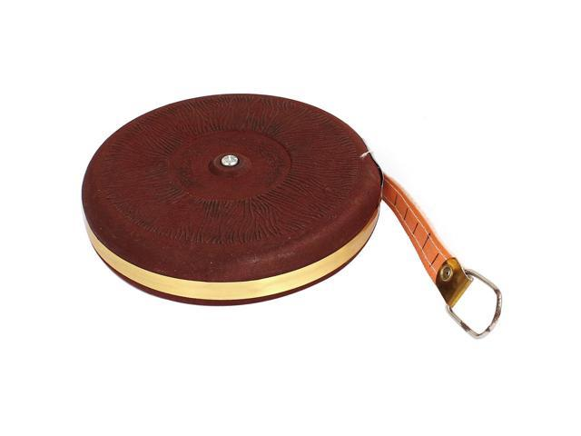 Engineer Double Sides Round Shaped 20M Range Reel Measuring Tape Burgundy