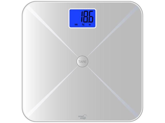 Smart Weigh 440lbs Electronic Bathroom Digital Body Weight Scale LCD Silver