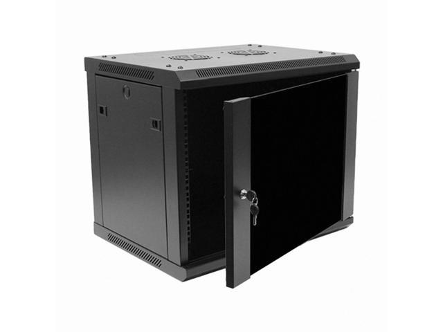 Navepoint 9u wallmount networking cabinet 450mm depth with for Kitchen cabinets 450mm depth