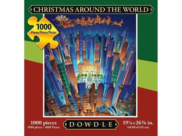 Christmas Around the World 1000 Piece Puzzle by Dowdle Folk Art