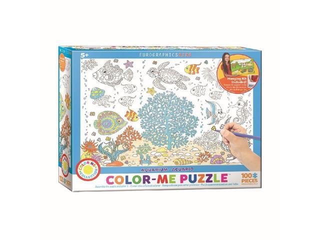 Color Me Aquarium 100 Piece Puzzlee by Eurographics