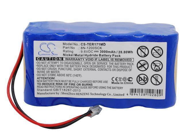 vintrons (TM) - 3000mAh Battery For TERUMO infusion pump TE-171, infusion pump TE-172, TE-171, + vintrons Coaster