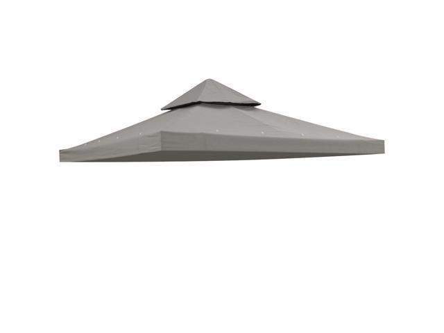 10x10u0027 2 tier gazebo canopy cover top replacement waterproof uv30 200g outdoor