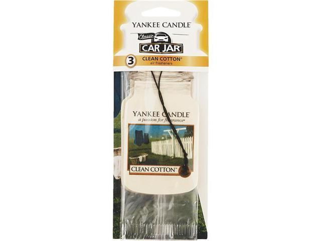 Yankee Candle Car Jar Car Air Freshener-CLN COTTN CAR FRESHENER