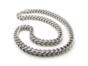 Stainless Steel 9mm Wheat Box Necklace