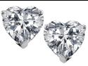 Original Star K(TM) 7mm Heart Shape White Topaz Earrings Studs