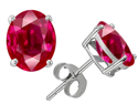 Original Star K(TM) Oval 8x6mm Created Ruby Earrings Studs