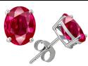 Original Star K(TM) Oval 8x6mm Created Ruby Earrings Studs