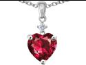 Original Star K(TM) Heart Shape 8mm Created Ruby Pendant