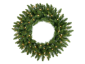 "36"" Pre-Lit Camdon Fir Artificial Christmas Wreath - Clear Lights"