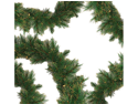 "9' x 12"" Pre-Lit Tattinger Long Needle Pine Artificial Christmas Garland - Clear"