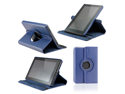 Dark Blue 360 Degree Rotating Leather Case Cover with Swivel Stand for Amazon 2011 Kindle Fire